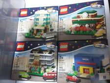LEGO Bricktober TRU Mini Modulars 2015 Train Station Bakery Hotel Set 4 Sealed