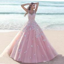 2016 Neue Rosa Hochzeitskleid maßgeschneiderte Brautkleid Abendkleid Ballkleid
