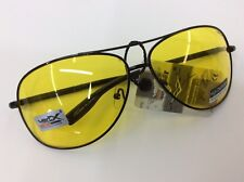 New  UV Aviator Sunglasses Night Vision Driving Glasses Yellow lens