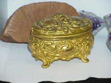 Gold Lady Heads Early 1900's Art Nouveau Brainard & Wilson B&W 139 Jewelry Box