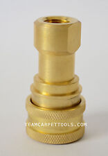 All Brass Female Quick Disconnect (QD) 1/4 Carpet Cleaning Wand Truckmount Valve