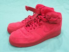 Men's Nike Air Force One 1 Red October Suede 07 Mid Top Shoes 315123-609 Size 14