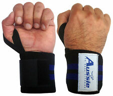 WEIGHT LIFTING GYM TRAINING WRIST SUPPORT WRAP WRAPS BAR STRAPS BODYBUILDING