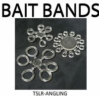 CLEAR BAIT / PELLET BANDS 3 DIFFERENT SIZES CARP COARSE FISHING TACKLE