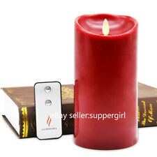 Luminara Pillar Flameless Dancing Wick LED Candle Battery Operated for Home Deco