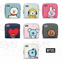 BTS BT21 Official Authentic Goods PU Square Pouch Medium 105x105x60mm + Tracking