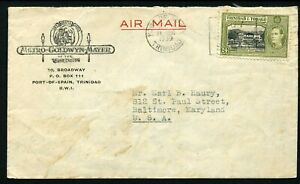 Trinidad & Tobago 1939 MGM Advertising Cover to the USA