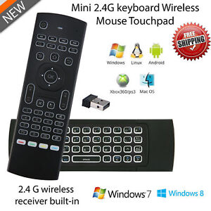 (lot of 5) Backlit LED 2.4GHz Wireless Remote Control Fly Air Mouse Keyboard MX3