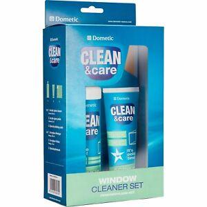 Dometic Clean&Care Acrylglas-Fensterpflege-Set (Reiniger / Politur / Pflegetuch)