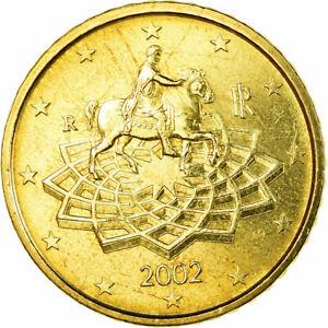 [#771306] Italy, 50 Euro Cent, 2002, AU(55-58), Brass, KM:215