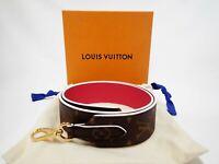 Authentic LOUIS VUITTON Monogram Shoulder Strap Bag Accessories Brown Pink