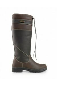 Brogini Warwick Pull On Leather Country Boots Size 41 7.5 Regular Calf BROWN