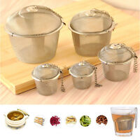 1pc Practical Tea Ball Spice Strainer Mesh Infuser Filter Stainless Steel Herbal