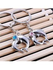 His Hers Boyfriend Girlfriend Couples Love Pink Blue Dolphin Key Chains Rings
