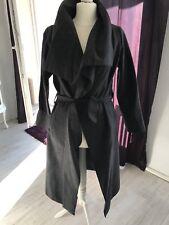 Ausgefallener schicker Mantel in Grau - Einheitsgröße 36/38/40/42 *Blogger Style