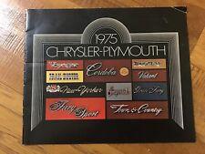 1975 Chrysler Plymouth Car Dealership Sales Brochure