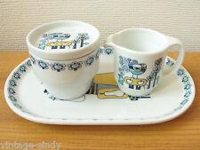 Vintage CREAM & SUGER SET | Mosa Maastricht | Bjorn Wiinblad Turi Design style