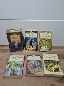 Vintage 1993 Box Set Children's Classics Books x5 Peter Pan Wizard of Oz Etc.