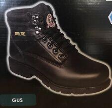 BRAHMA GUS STEEL TOE SLIP/OIL RESISTANT BLACK SAFETY WORK BOOT SIZE 8.5 W GUC