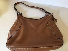 Antonio Melani Brown Leather Designer Satchel Purse