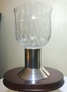 """Mikasa Crystal Ambiance Footed Hurricane Lamp Candle Holder 7.75""""  (6 Available)"""