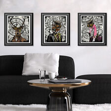 Animal Print Art Work Antique Dictionary Book Pages Steampunk Wall Art