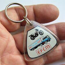 Ancien porte clé inclusion bourbon EFCM Ecole Conduite Moto Poids Lourds.