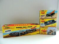 CORGI SET BATBOAT/ BATMOBILE/ BATCOPTER/ EXTRA BOX  / REPRO EMPTY BOX