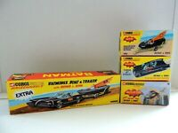 LOT CORGI BATBOAT/ BATMOBILE/ BATCOPTER/ EXTRA BOX  / REPRO EMPTY BOX