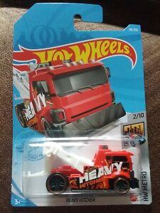 New Hot wheels red heavy hitcher tow truck - HW metro - breakdown lorry