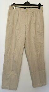 VINTAGE POLO Ralph Lauren Men's Trousers Light Beige W34 L32 100% Cotton