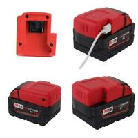 USB Power Phone Charger Adapter Cordless For Milwaukee M18 Battery Adapter Part