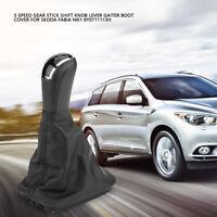 5 Speed Gear Shift Gaitor Knob Boot Dust Cover for Skoda Fabia MK1 6Y0711113H BT