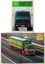 MERCEDES Benz 16-19 ton 2 essieux tracteur camion original uk brochure 1977