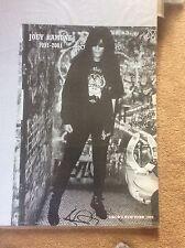 Joey Ramone 2001 Punk Jubilee Vintage Pop Rock Promo Music Poster Memorabilia