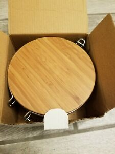 NIB S/2  Bamboo  Containers For Bulk Products Canisters Kitchen Storage