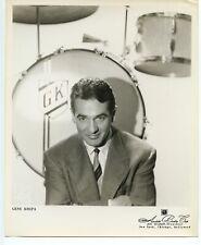 Jazz Drummer Gene Krupa original 1950s 8x10 agency photograph