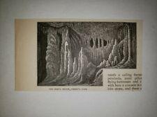 The Peri's Prison Sibert's Wyandotte Cave Indiana 1879 Sm Sketch Print Rare!