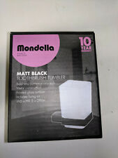 MONDELLA MATT BLACK TOOTHBRUSH TUMBLER + HOLDER * W6 x H9.5 x D9cm