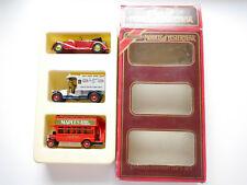 Y11 1938 Lagonda red +Y25 Renault OILS +Y23 AEC Bus MAPLES Matchbox MoY Gift Set