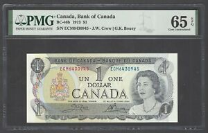 Canada One Dollar 1973 BC-46b Uncirculated Grade 65