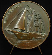 Medaglia Wind Star goletta a quattro alberi porto della Havre 1986 Barca a vela