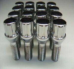 20 Pc AUDI SPLINE Chrome Lug Bolts Nuts Set 14mm x 1.50 .93 Length Part # 56820S