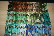Anchor / DMC Embroidery Threads - Black / Brown / Green / Aqua / Blue - Job Lot