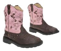 ROPER Cowboy Boots 3 M Youth Light Up Jeweled Faux Leather Western Roper Boots