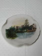 More details for opal wirths glass plate rippon cathedral signed m.w 24cm wide