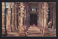 c1910 Colonnade Hindoo Pillars Minar Delhi India postcard