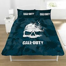 Call of Duty 'Broken skull' Panel Double Bed Duvet Quilt Cover Set Brand New