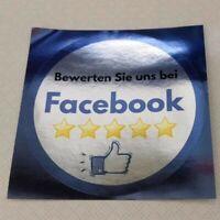 2 x Aufkleber · Bewerten Sie uns bei Facebook · ★★★★★ · Silber · Business