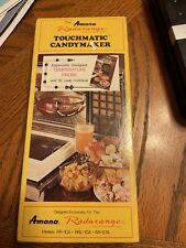 Vintage Amana Radarange Microwave Oven Touchmatic Candymaker in Original Box